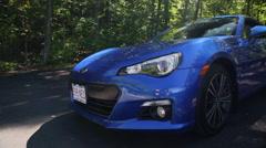 Subaru BRZ in the Woods Stock Footage