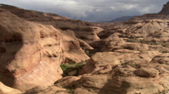 Flying over Utah's Cathedral Canyon Stock Footage