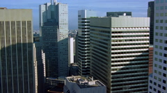 Orbiting downtown San Francisco skyscrapers. Shot in 2001. Stock Footage