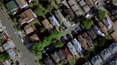 Flying over residences in suburban San Francisco. Shot in 2001. - stock footage