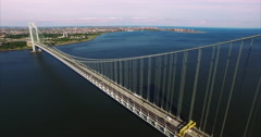 Verrazano Narrows Bridge Stock Footage