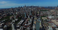 Panning Shot From NJ Of NYC Skyline - stock footage