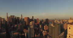 Zoom Out Shot Of Midtown With Chrysler Building & 432 Park Ave In Shot Stock Footage