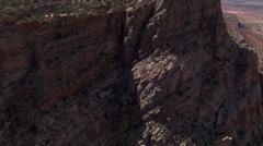 Rushing flight over Echo Cliffs in Arizona Stock Footage