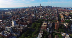 NYC Aerial Shot Flying From Downtown To Midtown - stock footage