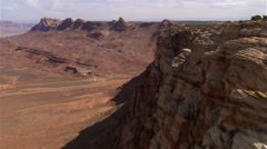 Slow flight along Arizona's Echo Cliffs Stock Footage