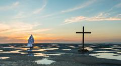 Jesus Christ Walk Away - stock photo