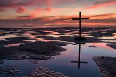 Pools of Cross Salvation - stock photo