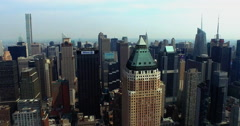 Flyover 825 Park Ave Viewing Empire State & 432 Park Ave - stock footage