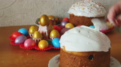 Easter holiday cake Stock Footage
