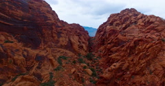 Aerial Footage of Red Rock Canyon Las Vegas Stock Footage