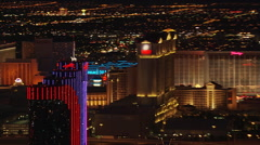 Flying west down Flamingo Avenue in Las Vegas. Shot in 2005. Stock Footage