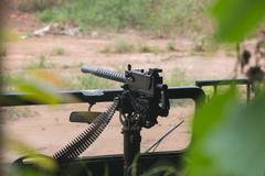 Machine gun range at the Cu Chi tunnels - stock photo