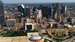 Dallas, Texas, viewed from the south. Shot in 2007. Stock Footage