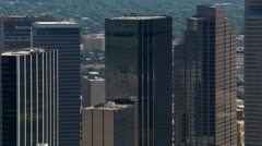 High-rise to mid-rise buildings in Dallas, Texas. Shot in 2007. - stock footage