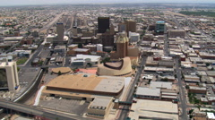 El Paso, downtown and surrounding areas. Shot in 2007. Stock Footage