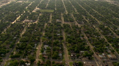 Neighborhood in Lubbock, Texas. Shot in 2007. Stock Footage