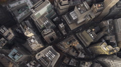 Looking down into Financial District near WTC site. Shot in 2011. Stock Footage