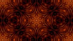 Tranquil brown kaleidoscopic background Stock Footage