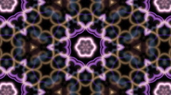 Tranquil multicolored kaleidoscopic background - stock footage