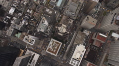 Rotating, looking down into Midtown Manhattan. Shot in 2011. - stock footage