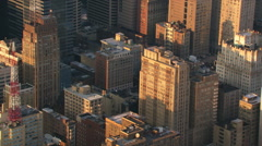 Low flight past Philadelphia highrises. Shot in 2003. Stock Footage