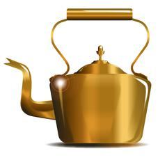 Victorian Copper Kettle - stock illustration