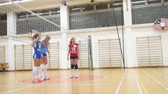 Girls playing volleyball Stock Footage