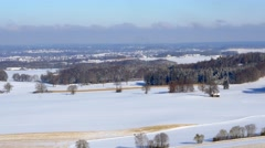 Snowy Winter Landscape in Bavaria, Germany Stock Footage