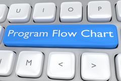 Program Flow Chart concept - stock illustration