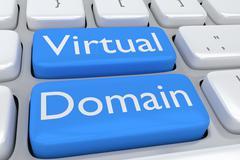 Virtual Domain concept Stock Illustration