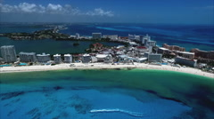 Cancun Mexico Aerial Footage Stock Footage