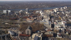 Aerial view of Trenton, NJ. Shot in 2011. Stock Footage
