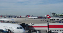 Airport terminal timelapse Arkistovideo