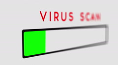Stock Video Footage of virus scan scanning computer virus