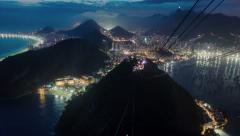 Time lapse from Sugarloaf Mountain in Rio de Janeiro at night. - stock footage