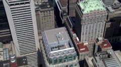 Flight over the Helmsley Building toward New York Hotel. Shot in 2006. Stock Footage