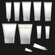 White Mock Up Blank Tube Bag Packaging. - stock illustration