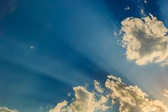 Stock Photo of Sunlight with cloud on blue sky