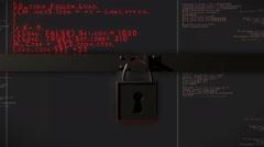 Encrypted data secret encrypt files code Stock Footage