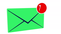 Incoming messages in mailbox concept Stock Footage