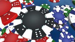 Spinning poker chips background Stock Footage
