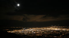Time-lapse night clouds over Albuquerque, New Mexico - stock footage