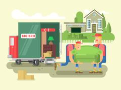 Stock Illustration of Moving design flat