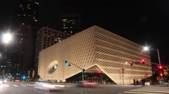 The Broad Museum in downtown Los Angeles Stock Footage