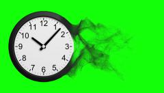 Time Disintegrating Into Dust. Green Screen. Stock Footage