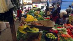 Vegetable market Stock Footage