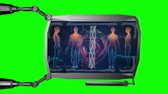 Futuristic HUD digital medical monitor. Medical concept  future. Green screen Stock Footage
