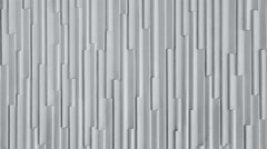 Vertical pattern white fibreglass wall graphic background Stock Footage