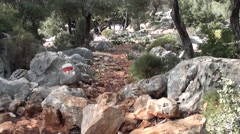Marking on the Lycian way Stock Footage